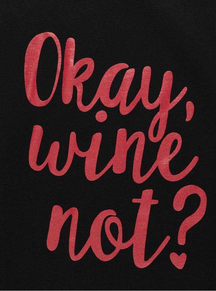 Tricou negru din bumbac organic ZOOT Original Wine not