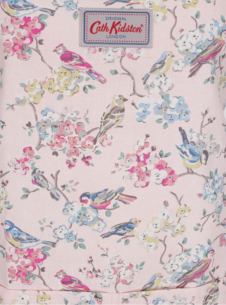 Růžová zástěra s motivem květin a ptáčků Cath Kidston