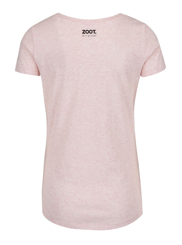 Světle růžové žíhané dámské tričko ZOOT Originál