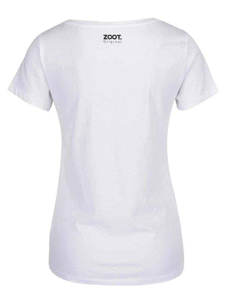 Bílé dámské tričko ZOOT Originál V noci ožívám