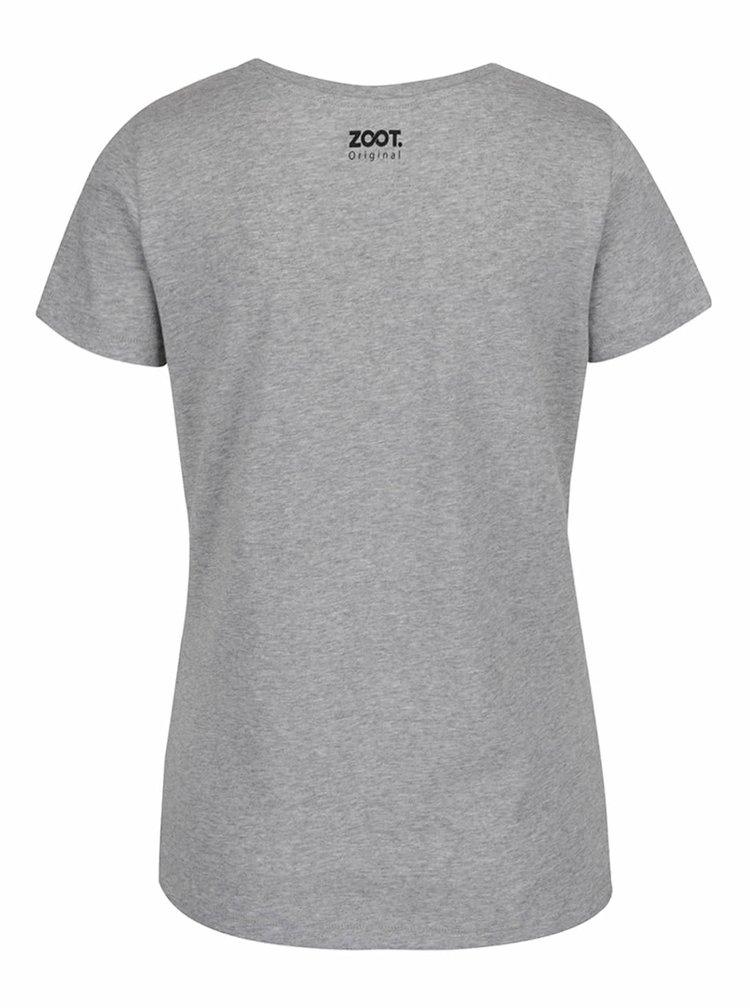 Šedé dámské tričko ZOOT Originál Ministerstvo lásky