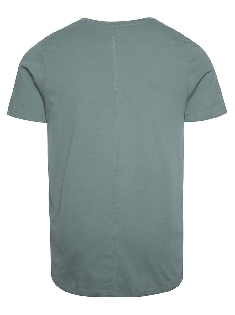 Šedozelené basic tričko Jack & Jones Hugo