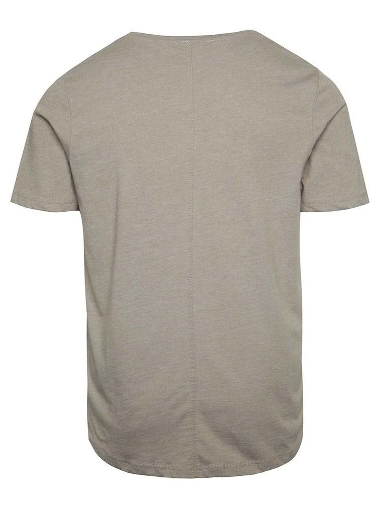 Tricou basic bej Jack & Jones Hugo din bumbac