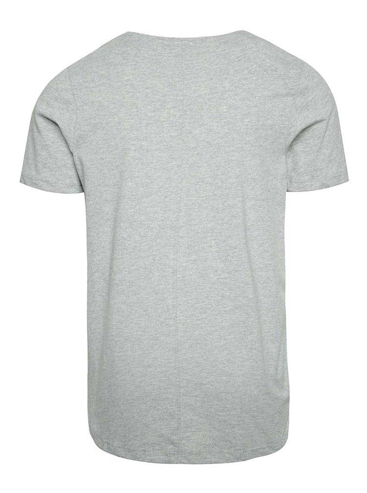 Světle šedé basic tričko pod košili Jack & Jones Hugo