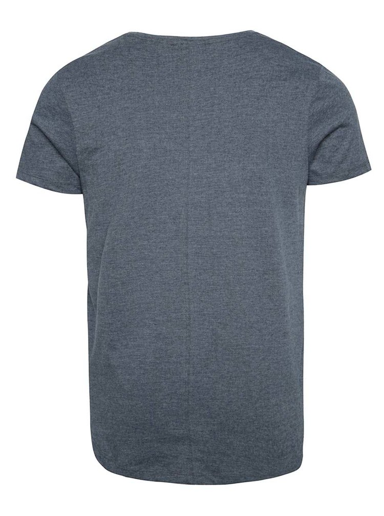 Šedomodré basic tričko Jack & Jones Hugo