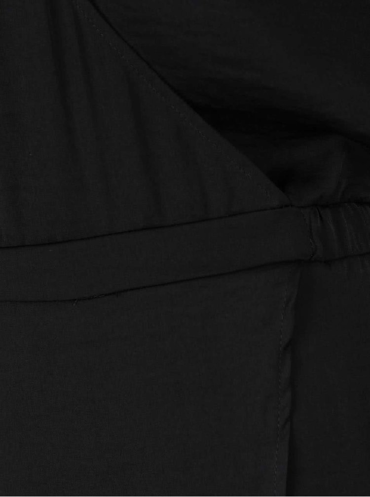 Rochie neagra VILA Melli cu insertie dantela