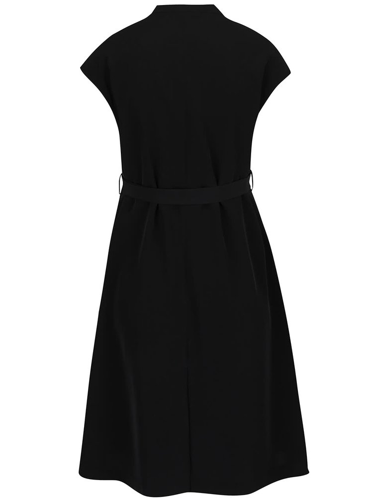 Černé těhotenské šaty se zavazováním v pase Mama.licious Azymetric