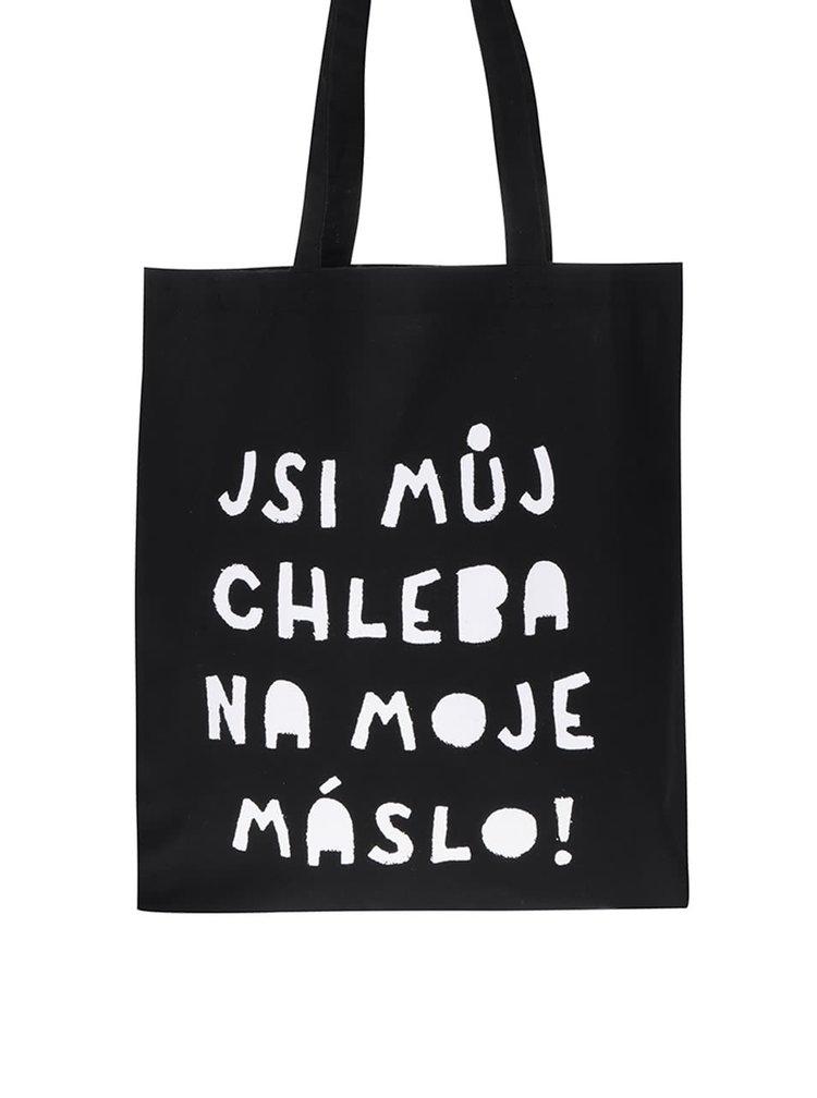 Černá plátěná taška ZOOT Originál Jsi můj chleba