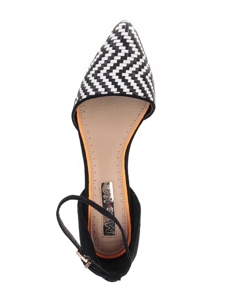 Pantofi alb cu negru Miss KG cu bareta