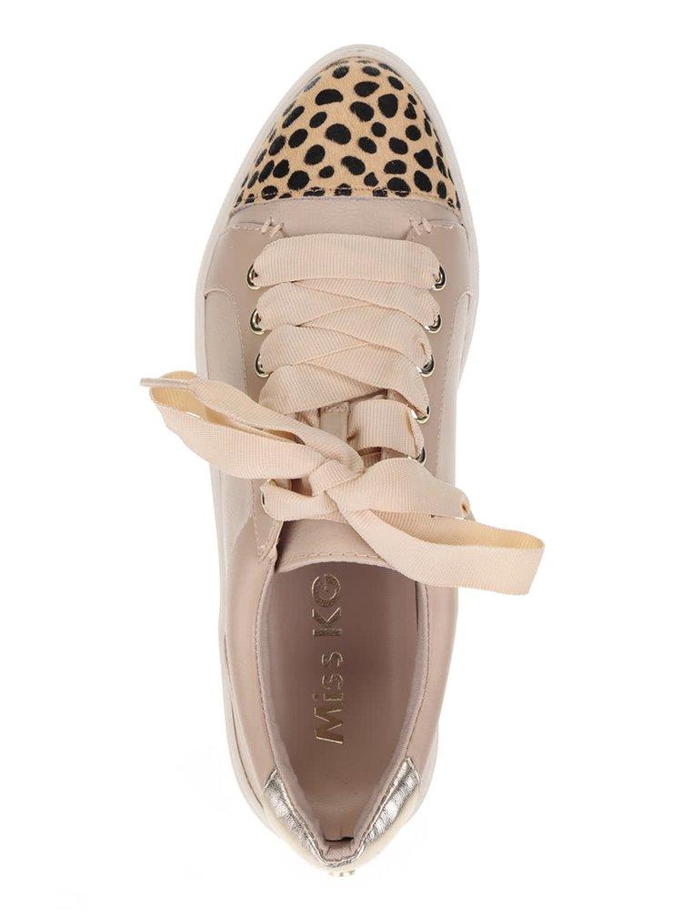Béžové tenisky se vzorovanou špičkou Miss KG