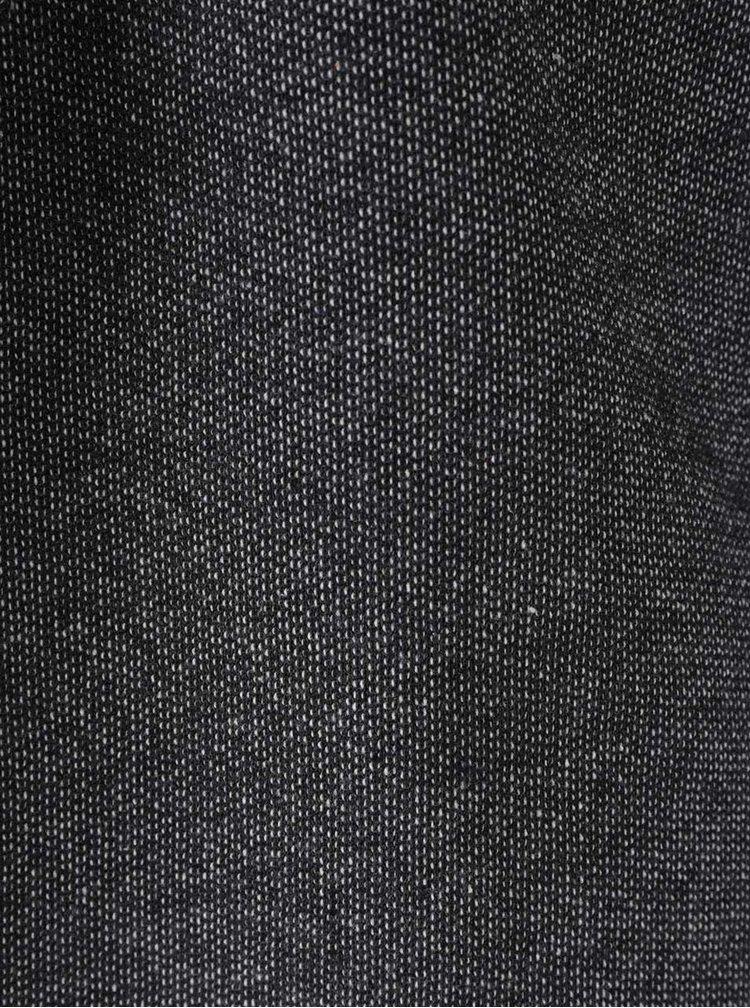Tmavě šedý dámský žíhaný blejzr s.Oliver