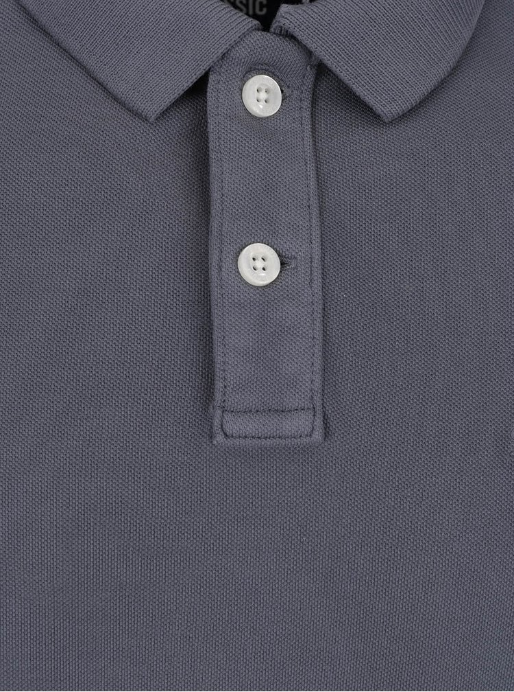 Šedé pánské polo triko Superdry