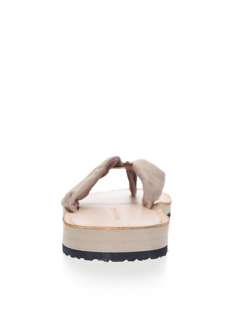 Béžovo-hnědé dámské žabky Tommy Hilfiger
