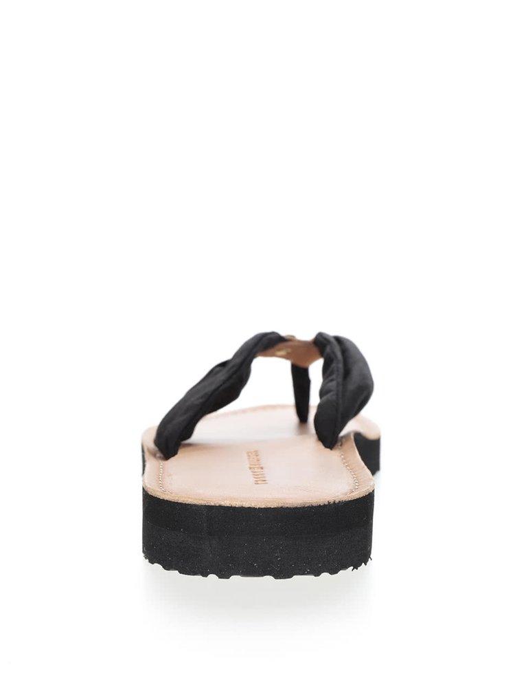 Hnědo-černé dámské žabky Tommy Hilfiger
