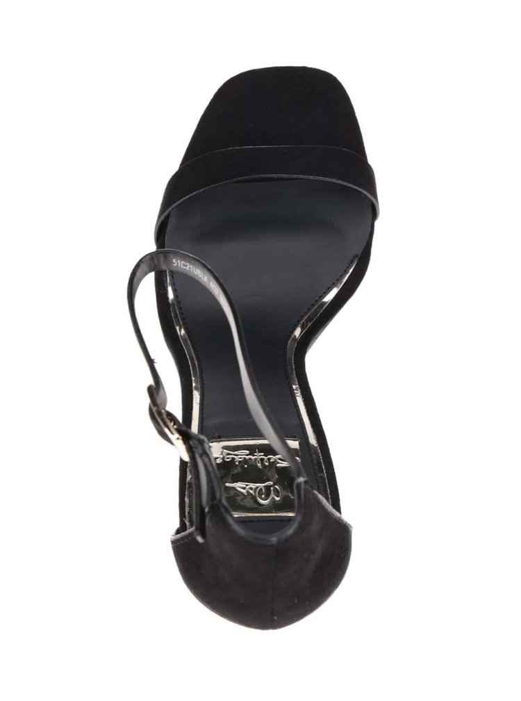 Sandale negre Miss Selfridge cu toc stiletto