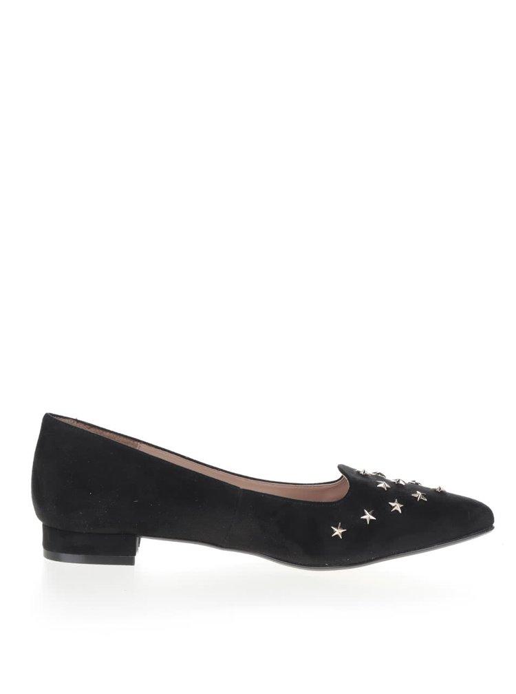 Pantofi negri OJJU cu detalii metalice și vârf ascuțit