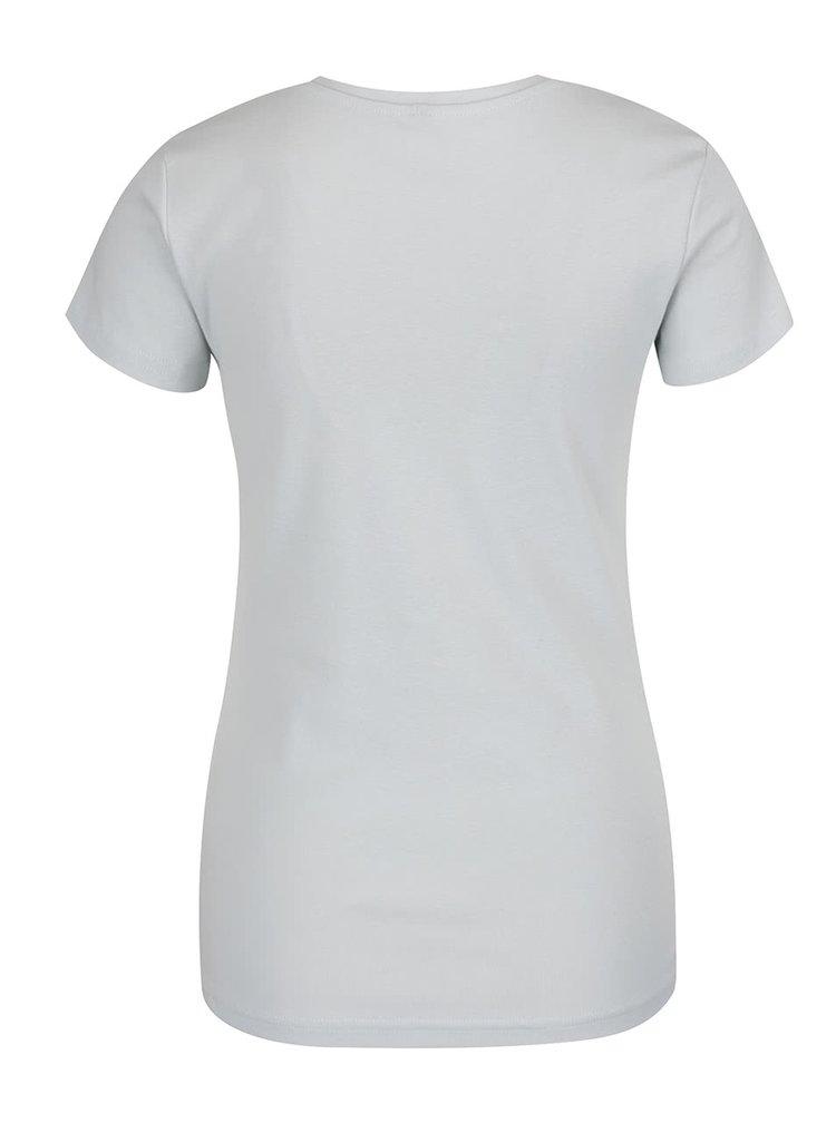 Mentolové tričko s véčkovým výstřihem Madonna Basic