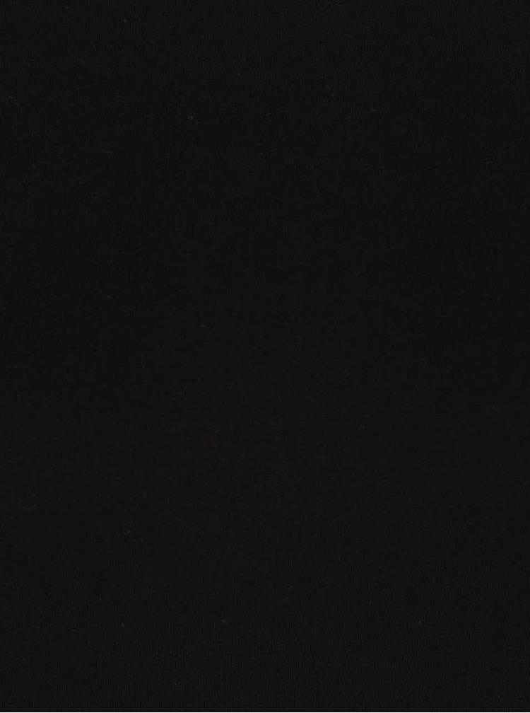 Čierne tričko s dlhým rukávom Madonna MDA