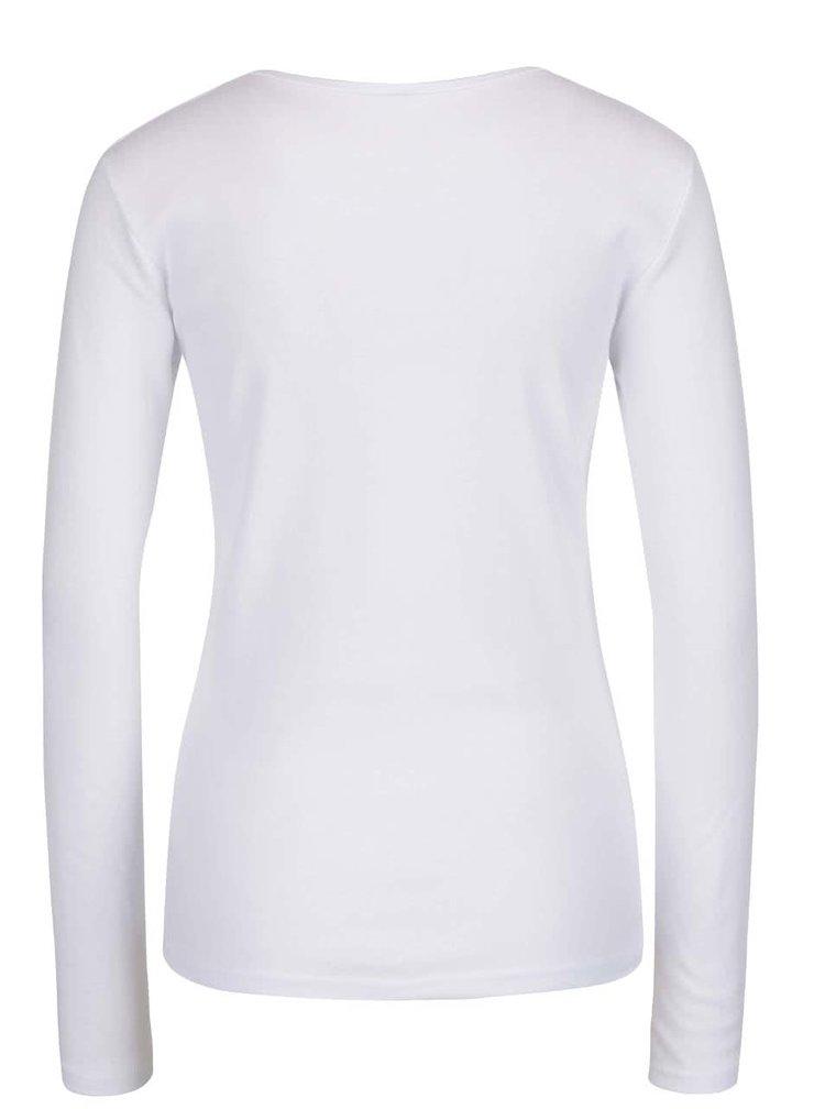 Biele tričko s dlhým rukávom Madonna MDA