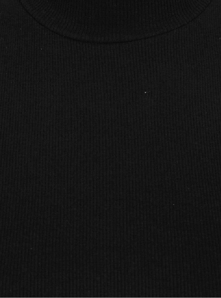Bluza neagra Madonna Amaya cu decupaj pe umeri