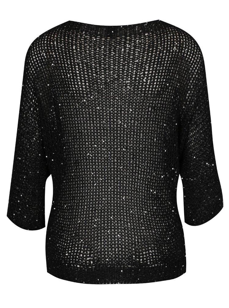 Černý svetr s flitry Madonna Destiny