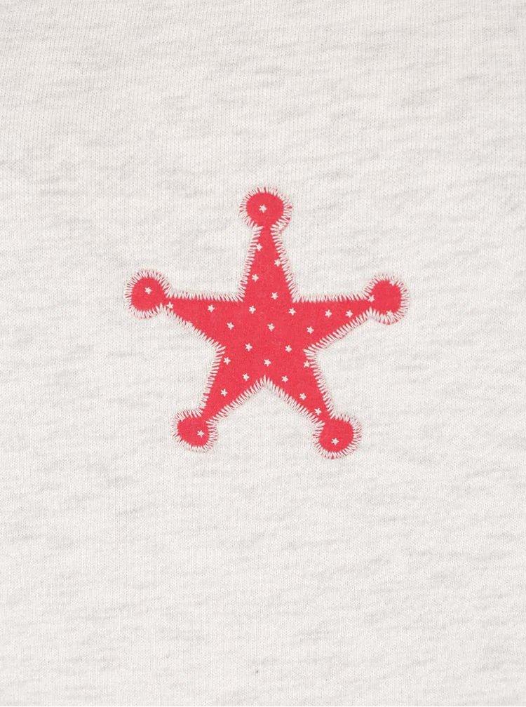 Bluză crem Maison Scotch cu aplicații decorative