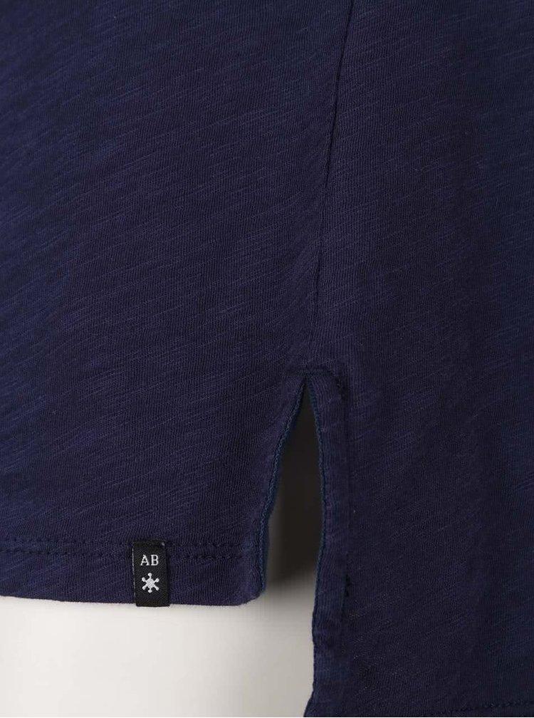 Tricou albastru închis Maison Scotch cu imprimeu