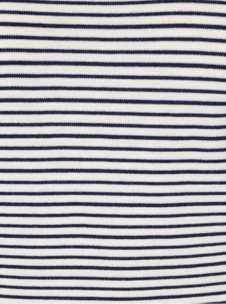 Modro-krémové pruhované tričko Scotch & Soda