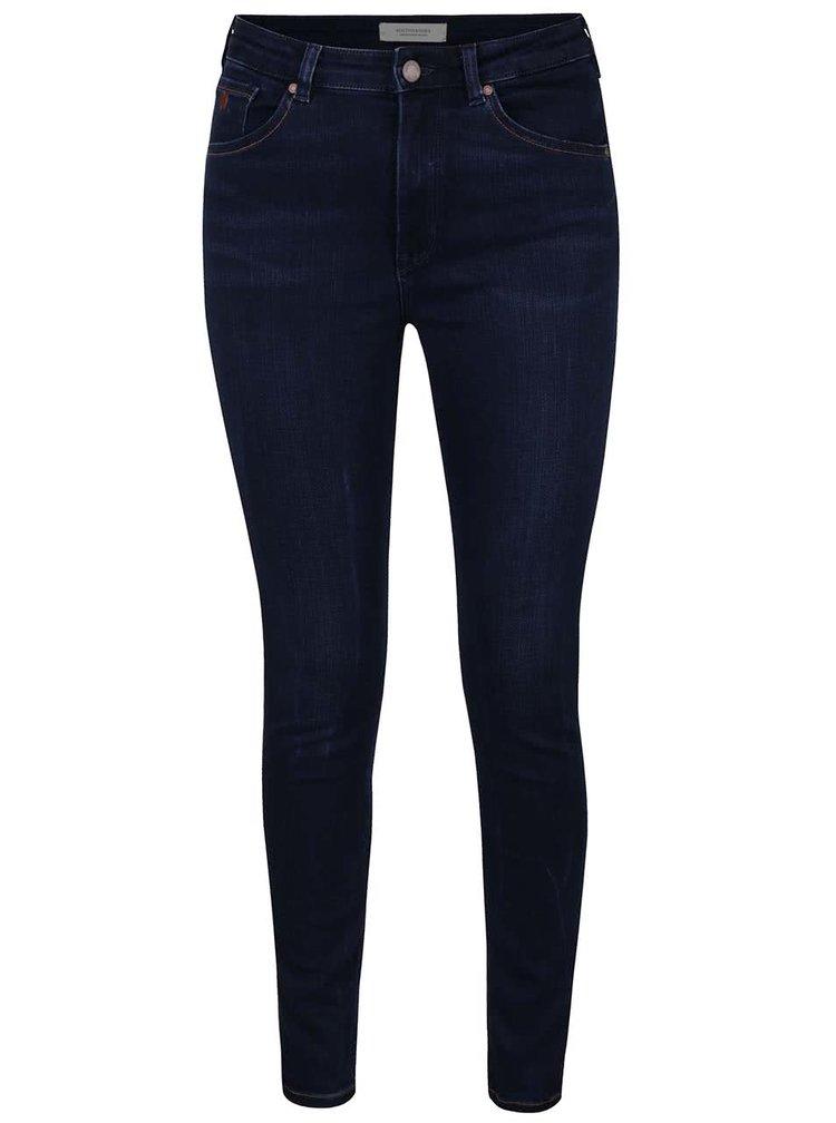 Tmavě modré skinny džíny Maison Scotch