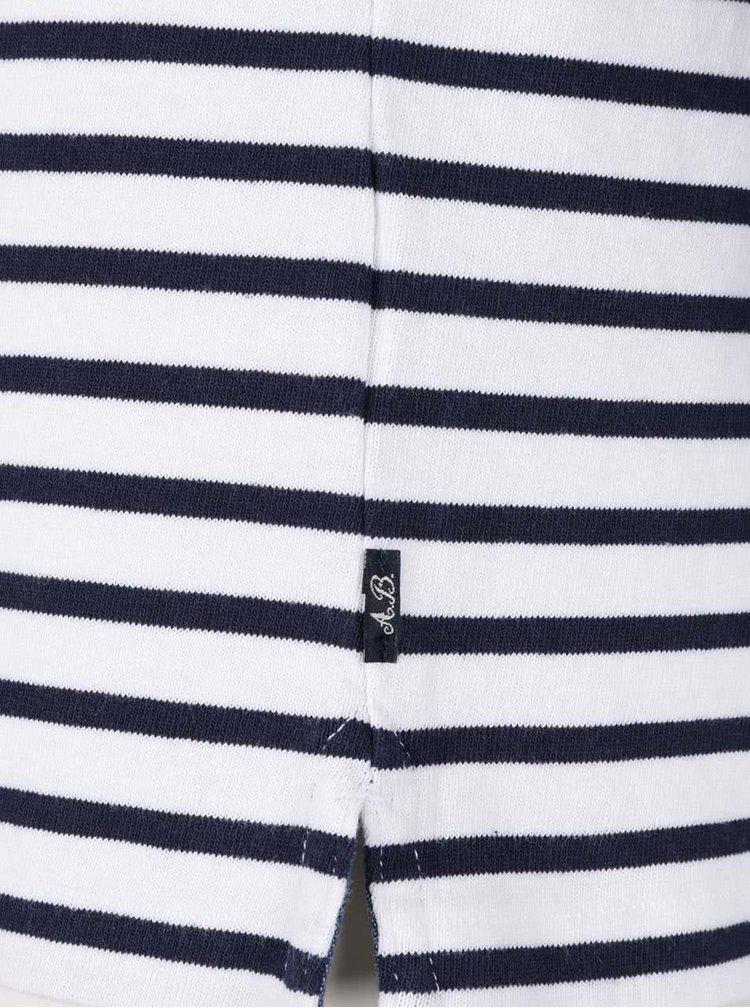 Bluză alb & albastru Scotch & Soda din jerseu subțire