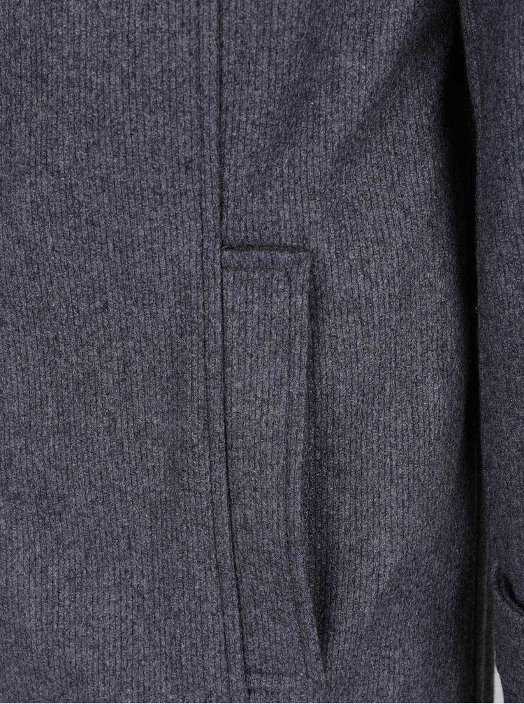 Tmavě šedý kabát s příměsí vlny Selected Homme Geneve