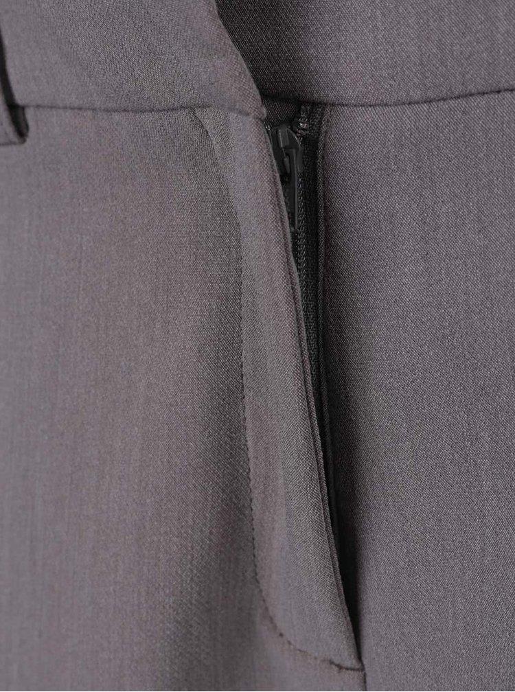 Pantaloni gri Selected Femme Amila cu croi drept