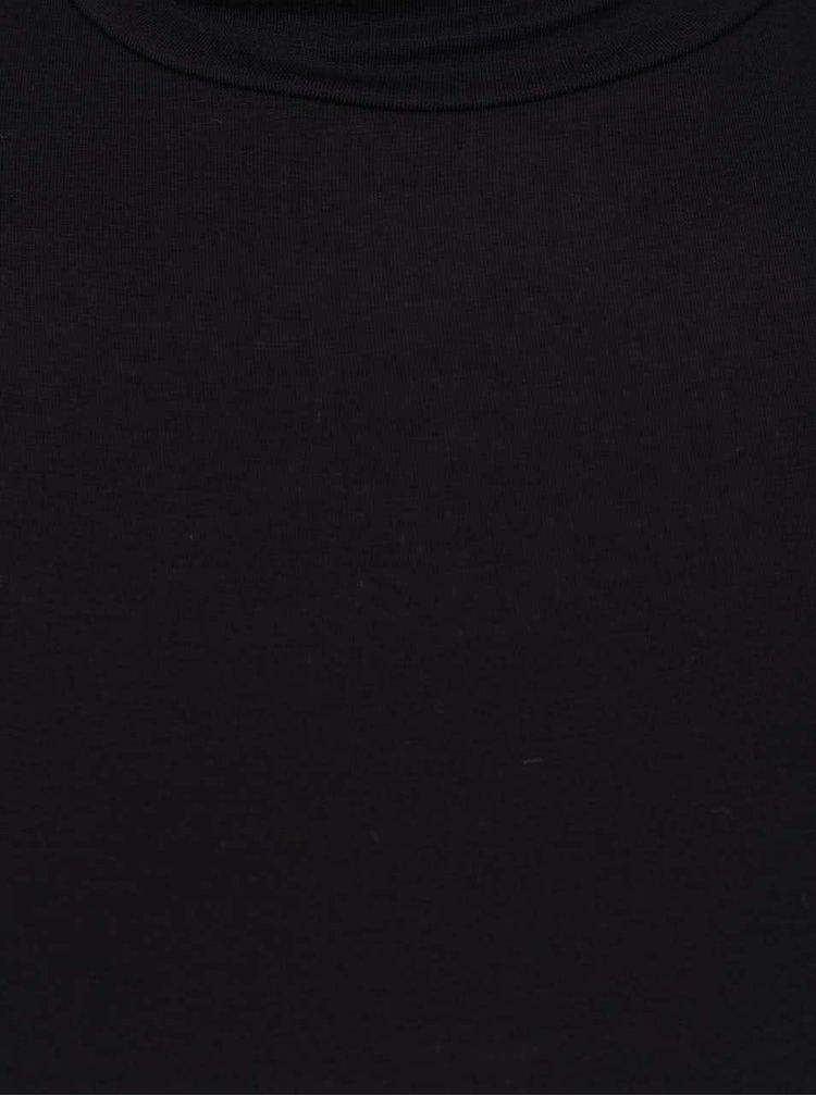 Černé tričko s rolákem Madonna