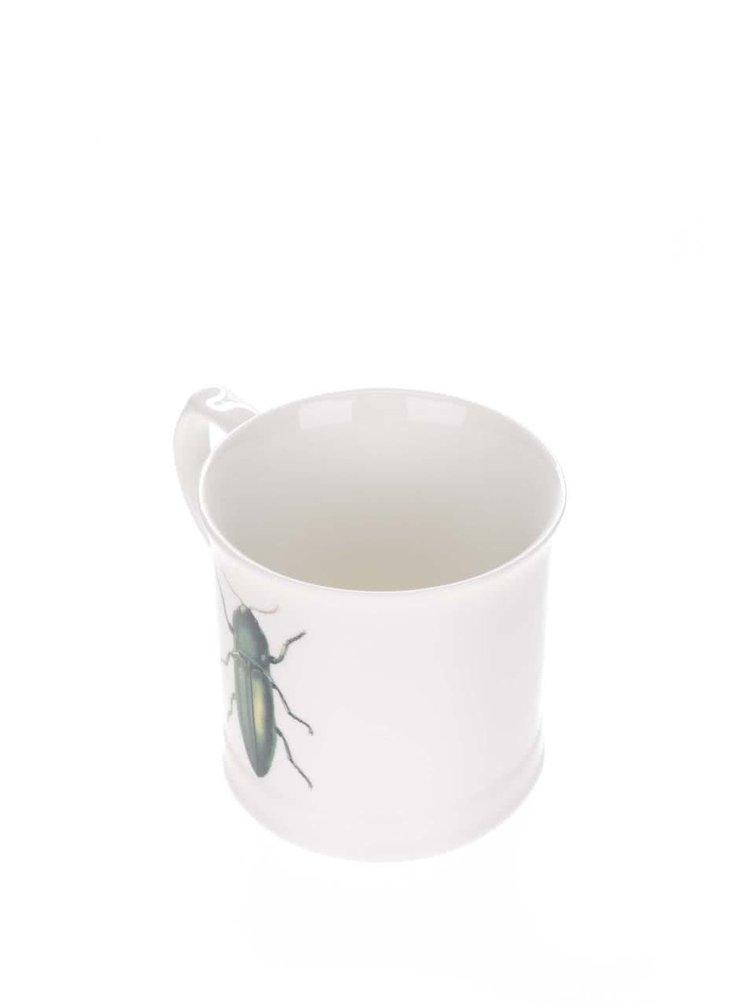 Krémový hrnek s potiskem brouka Magpie Curios