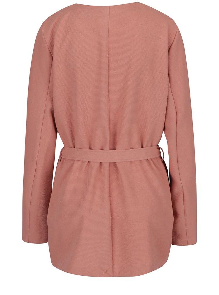 Jacheta roz prăfuit cu cordon ONLY Maya