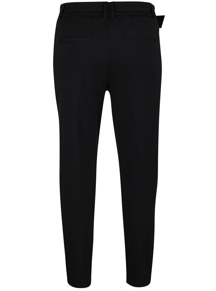 Černé kalhoty s páskem ONLY Poptrash