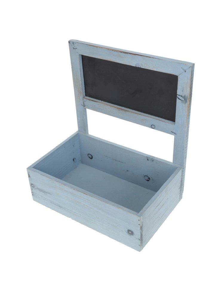 Cutie de bijuterii Dakls albastra din lemn