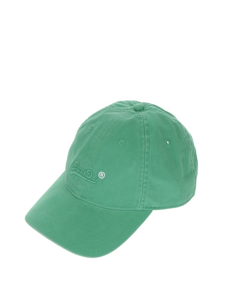 Zelená pánská kšiltovka s výšivkou Superdry
