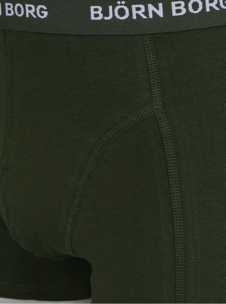 Set 3 perechi boxeri negru/kaki/gri Björn Borg