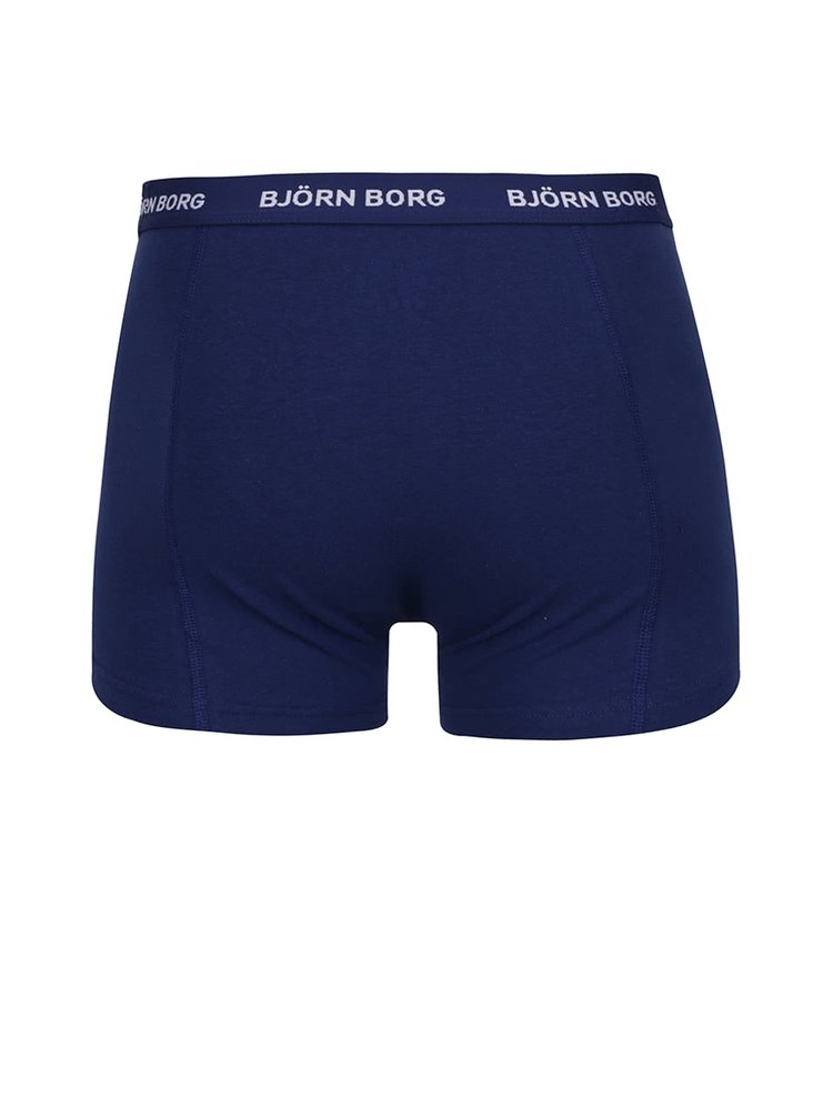 Set 3 perechi boxeri albastru/bleumarin/negru Björn Borg