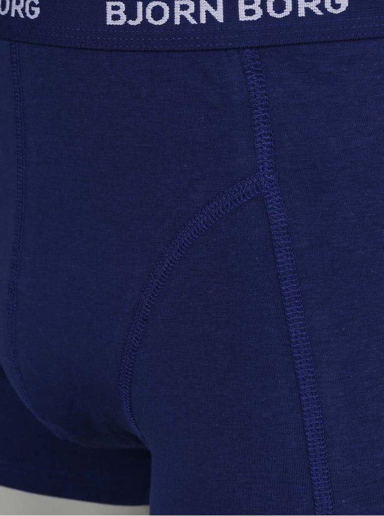 Sada tří boxerek v modré barvě Björn Borg