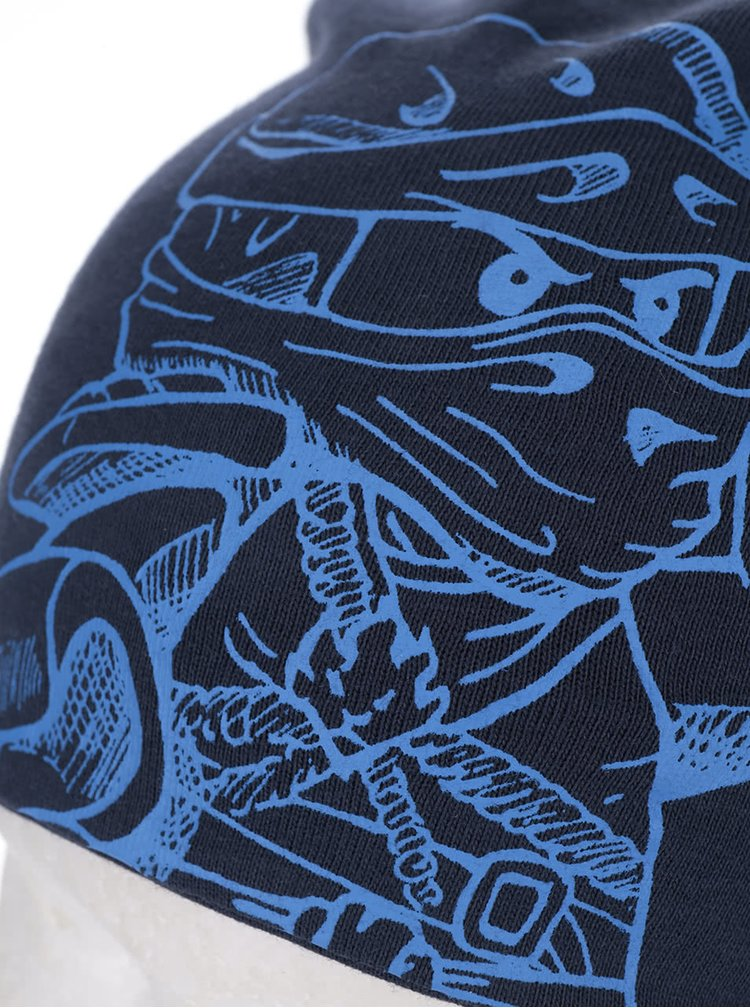 Tmavě modrá klučičí čepice s potiskem LEGO Wear Ayan