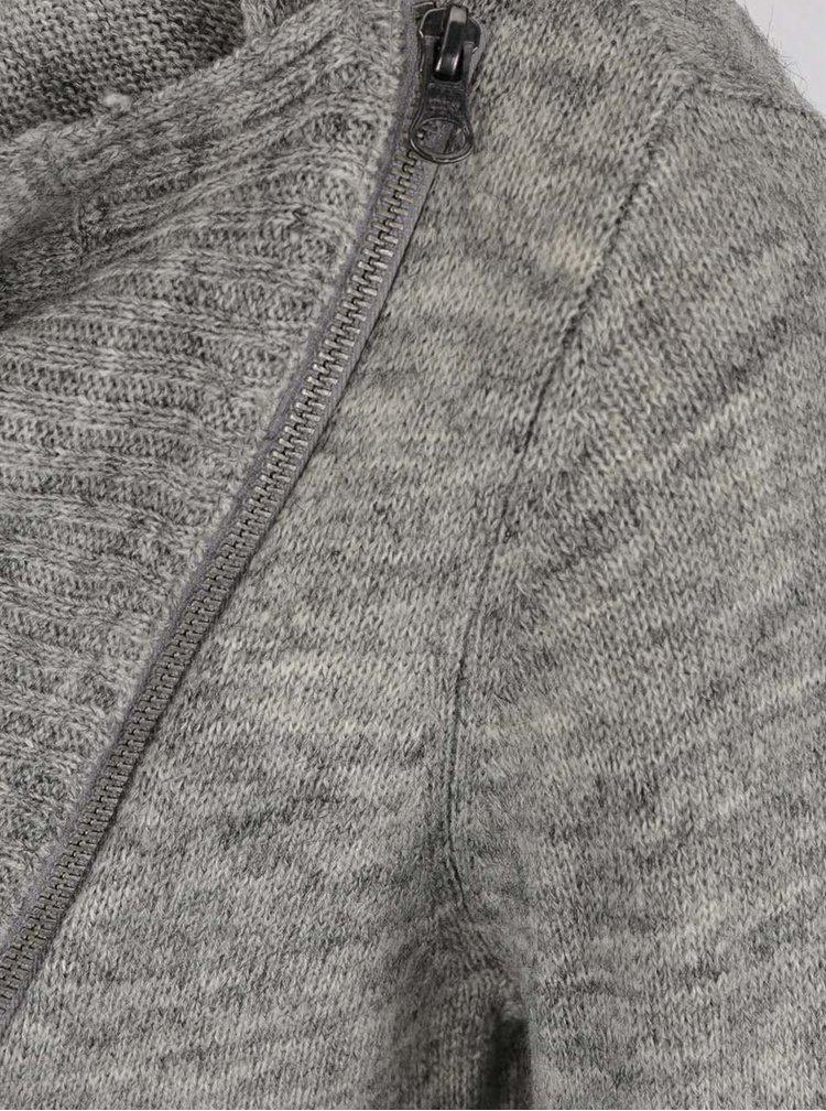 Světle šedý žíhaný kardigan ONLY Hayley