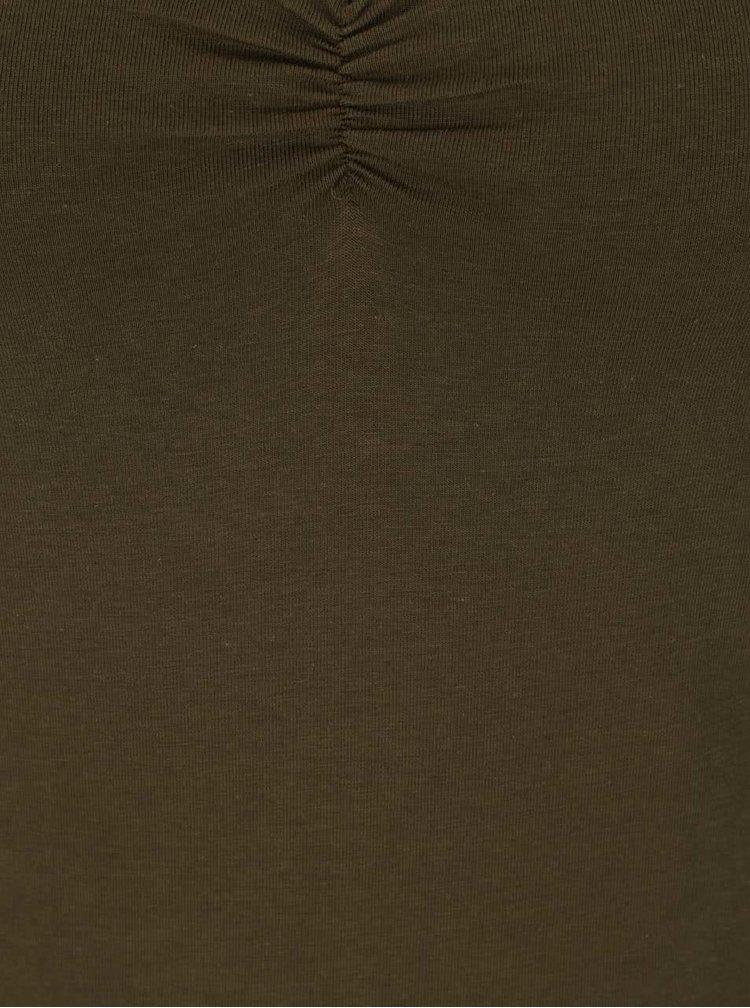 Khaki basic tričko TALLY WEiJL
