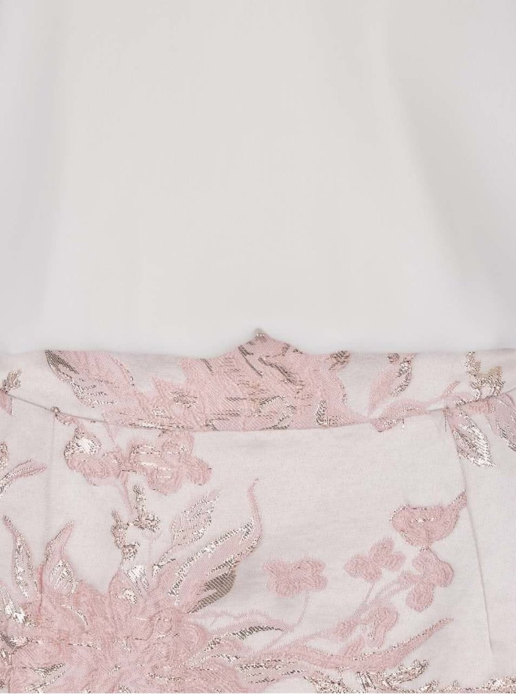 Krémovo-růžové šaty s detaily ve zlaté barvě AX Paris