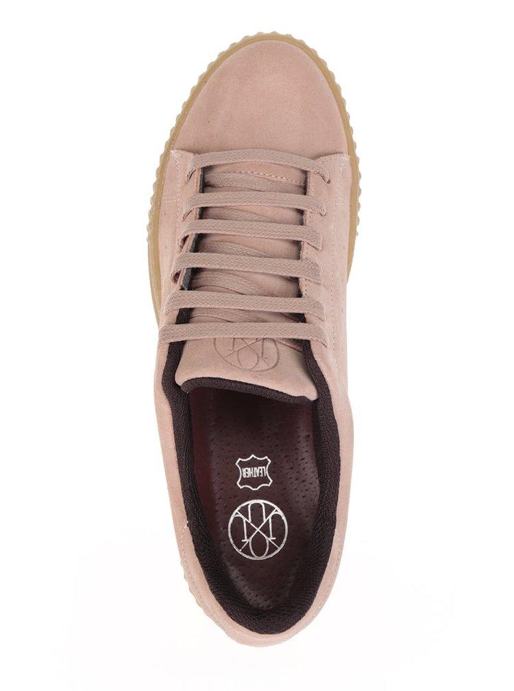 Pantofi sport roz pal cu platformă OJJU Serraje