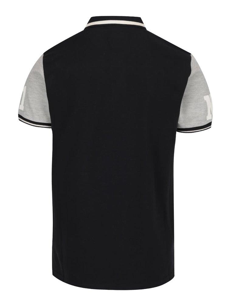 Krémovo-černé polo triko Lindbergh