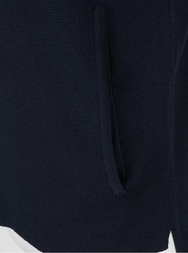 Tmavě modrý kadrigan na zip Selected Homme Jakob