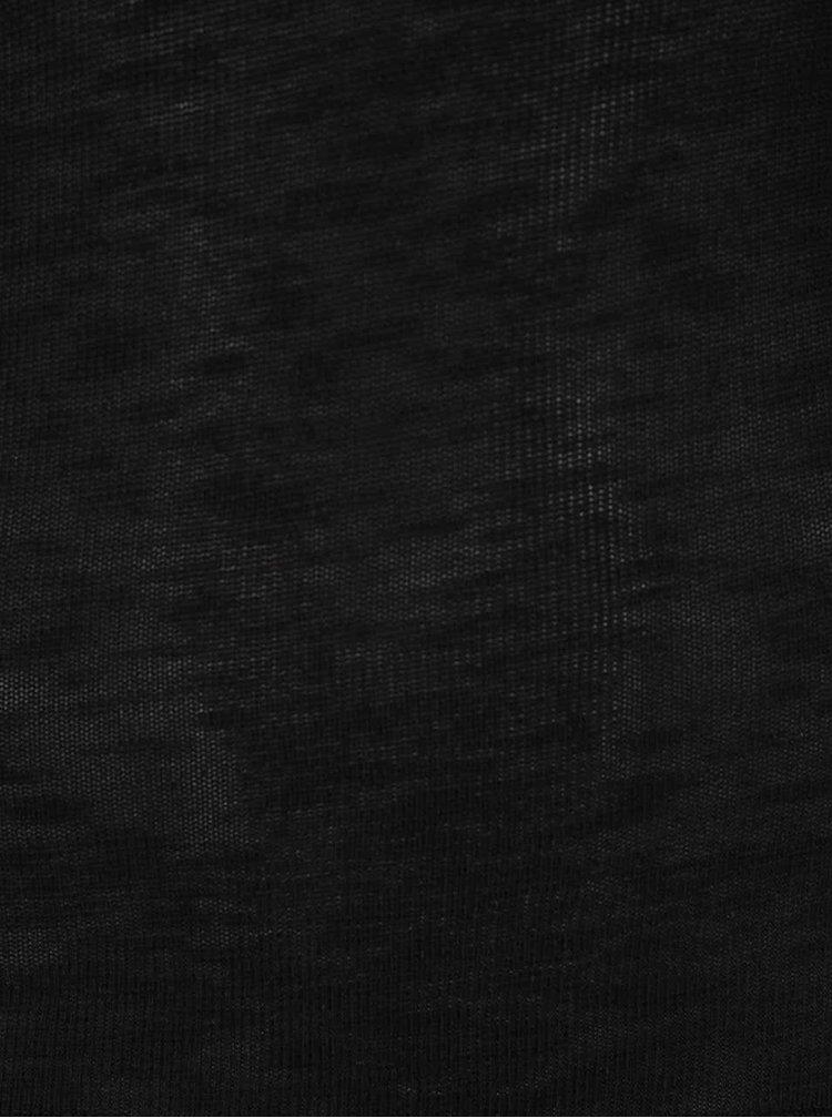 Černé tričko s 3/4 rukávem Zabaione Anna