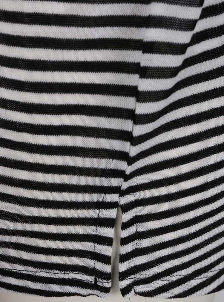 Černo-bílé pletené tričko s 3/4 rukávem Haily's Mary